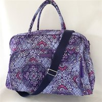 Wholesale weekender bags women for sale - Group buy Lillac Weekender Retired Patterns Travel Bags for sale Cotton Duffel Bags Kiev Paisley VB Stuffs