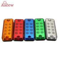 Wholesale car indicators for sale - Group buy 12V LED Side Marker Indicator Light Lamp Truck Trailer Lorry Caravan Waterproof Car LED Lights Blue Green Yellow White Red