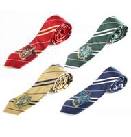 Wholesale hogwarts ties resale online - Harry Potter Ties Clothing Accessories Borboleta Necktie Ravenclaw Hufflepuff Necktie Hogwarts Stripe Ties design With Children Gift
