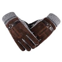6f0b678fb7b8d9 braune handschuhe männer großhandel-Mann Winter Professionelle  Skihandschuhe Schwarz Braun Einfache und Stilvolle Outdoor Sports
