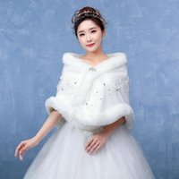 vestidos de dama de honra de inverno casacos venda por atacado-Novo xaile do vestido de casamento Outono e inverno dama de honra dama de honra do casaco grosso para se aquecer