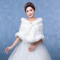 vestidos de dama de invierno chaquetas al por mayor-Nuevo vestido de novia chal Otoño y chaqueta de hombro de dama de honor de la novia de invierno engrosada para mantener el calor