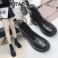 ingrosso inverno merletti gli stivali coreani-Boots Short Ins Stivali Donne 2020 autunno e stile New Winter studenti britannico retrò selvaggio coreano Chic Lace-up
