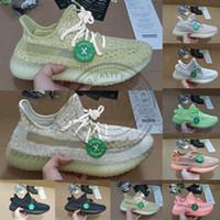 talla 13 zapatillas deportivas al por mayor-Con Stock X Tag Box Antlia Lundmark Black Static Clay Zapatillas de running Hombre Zapatillas de deporte para mujer Zapatillas de deporte reflectantes Kanye West Tamaño 5-13