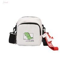 Wholesale cute college bag style resale online - Women Shoulder Bag New Canvas Crossbody Bag For Student Cartoon Cute Joker Simple Light Japanese College Style