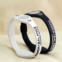 energie energie silikon armband armbänder großhandel-Fitness Yoga Power Energy Armband Sport Armbänder Balance Magnetic Therapy Silikon Negative Iongel Energiebilanz Armband