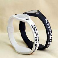 ingrosso braccialetti del braccialetto del silicone di potere di energia-Fitness Yoga Power Energy Braccialetto Sport Braccialetti Balance Magnetic Therapy Bracciale in silicone negativo a energia iongel