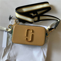 Wholesale body branding designs for sale - Group buy The High quality camera bag Fashion Design Handbag luxury lady bag famous brand first layer cowhide splicing shoulder Crossbody Bag MJ women