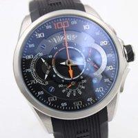 кварцевый кварц оптовых-Кварцевые хронограф наручные часы тахиметр Калибр S Mercedes Benz SLS Леонард секундомер мужские часы три суб-циферблат дисплей резиновый ремешок подарок