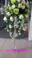 акриловые подставки для центральных частей оптовых-Новый стиль Красивая акриловая подставка свадебный стол центральные подставки для цветов украшение decor01037