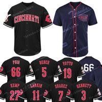 jersey kemp venda por atacado-Cincinnati Reminiscência Reds Jersey Yasiel Puig Matt Kemp Joey Votto Eugenio Suarez Majestic 1911 Reminiscência Cool Base Baseball Jerseys