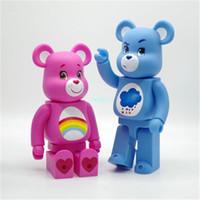 ingrosso l'azione porta-28CM Bearbrick Gloomy BB 400% Care Bears Be @ rbrick Original Fake Street Art Regalo di compleanno Vinyl Action Modello da collezione Toy BOX G284