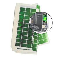 messingzahlen großhandel-Schlagring Sicherheitsaufkleber Hologramm Fälschungssicheres Kennzeichen Vape 510 Patronen Holographisches grünes Etikett Mit verschiedenen Nummern