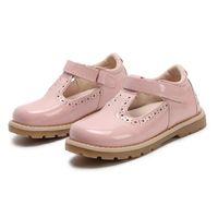 sapatos de escola de bebê venda por atacado-Crianças Sapatos Princesa Meninas Sapatos Da Escola Vermelho Rosa Preto Crianças Vestido De Festa De Couro Planas Little Girls Shoes Bebê Casual Sneaker