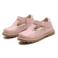 маленькие девочки оптовых-Детская обувь Принцесса Girls School Shoes Красный Розовый Черный Детская кожаная платье для вечеринок Плоские Маленькие туфли для девочек Детские повседневные кроссовки