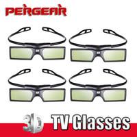 3d gözlük seti toptan satış-Freeshiping 4 adet / grup için Bluetooth Aktif Deklanşör 3D TV Gözlük Sanal Gerçeklik Samsung Sony LG Panasonic TV HDTV 3D TV HDTV Blue-ray Oynatıcı