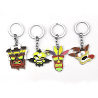 Wholesale souvenir toys resale online - Crash Bandicoot Game Keyring for Men Women Cosplay Dog Keychain Male Anime Jewelry Key Holders pendant figure toys Souvenir gift