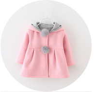 18 24 month winter jacket 2021 - Baby Girls Coat Winter Spring Baby Girls Princess Coat Jacket Rabbit Ear Hoodie Casual Outerwear for girl Infants clothing