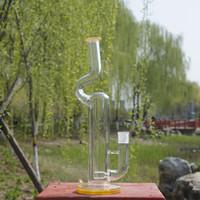 ingrosso fumo nero magia-Nuovo arrivo 35cm di altezza Seed Of Life Perc perc Bong in vetro per acqua con bocchettone femmina 18,8mm