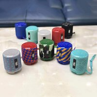 Wholesale portable bluetooth speakers chinese resale online - TG129 Portable Bluetooth Speaker Mini Wireless Subwoofers Music MP3 Player FM Radio TF Storage Card USB Cloth Creative Outdoor Speakers