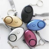 detectores inalámbricos al aire libre al por mayor-Nuevo 2 pcs Nuevo Personal Alarm Keychain 130dB SOS Alarmas de seguridad de autodefensa de emergencia para proteger a las mujeres niños estudiantes envío gratis