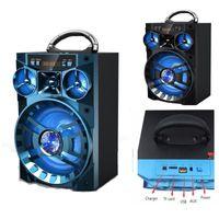 müzik kutusu usb mp3 toptan satış-Büyük Açık Kamp KTV AUX Hoparlör Taşınabilir Kablosuz Bluetooth Ses Kutusu HIFI Müzik Subwoofer Desteği SD TF Mp3 Çalar USB