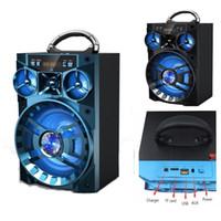 caja de música usb mp3 al por mayor-Gran acampar al aire libre KTV AUX altavoz portátil inalámbrico Bluetooth caja de sonido HIFI música Subwoofer Soporte SD TF reproductor de MP3 USB