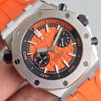 relojes mecánicos de importación al por mayor-Nuevo reloj para hombre correa de caucho Royal Oak automático importado mecánico 316 caja de acero delicado transparente reloj trasero hombres M03