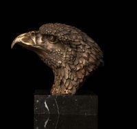 Wholesale bronze sculpture deco art resale online - Art Deco Sculpture Animal Eagle Hawk Head Bronze Statue Bronze Arts outlets