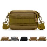 paquetes de molle al por mayor-Tactical Molle Nylon Cinturón Cinturón Bolsas Cartera Monedero Bolsa Deporte al aire libre tactica Paquete de la cintura EDC Camping Senderismo Bolsa ZZA544