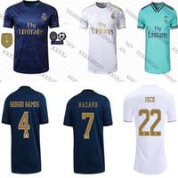 fußball trikots uniformen real madrid großhandel-Real Madrid Trikots 2019 2020 Isco Fußball Trikot SERGIO RAMOS MODRIC BALE Fußball Trikot Uniformen Kit 19 20 T-Shirts Sport
