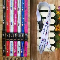 Wholesale cell phone neck chain lanyard for sale - Group buy Champion Letter Mobile Phone Lanyard Strap Fashion Tide Sports Cell Phone Lanyard Camera ID Card Neck Key Chains Straps A41605