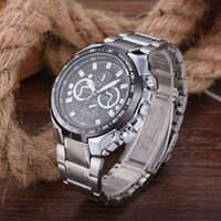 Wholesale mesh buckle bracelet resale online - Longbo Fashion Men Crystal Stainless Steel Analog Quartz Wrist Watch Bracelet men watch stainless steel mesh wristwatch mens