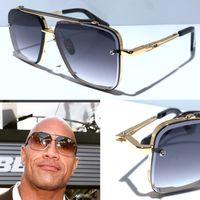 gafas de sol sin marco vintage al por mayor-Nuevas gafas de sol para hombre, gafas de sol vintage de metal, estilo de moda, lente cuadrada sin marco UV 400 con estuche original