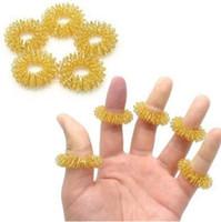 ferramentas de massagem de dedo venda por atacado-Anel de Massagem com os dedos Anéis de Acupuntura Uso Doméstico Cuidados de Saúde Corpo Massageador Relaxar Massagem nas Mãos Dedo Ferramentas GGA1857