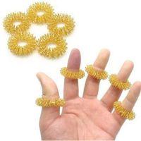 akupunktur fingermassage ring großhandel-Finger Massage Ring Akupunktur Ringe Heimgebrauch Gesundheitswesen Massagegerät Entspannen Handmassage Finger Werkzeuge GGA1857
