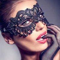 tatil maskeli maskeleri toptan satış-Parti Masquerade Kraliçesi Göz Kadınlar Cosplay Kostüm Cadılar Bayramı Maskesi Noel Partisi Festivali Tatil Malzemeleri Maske dantel