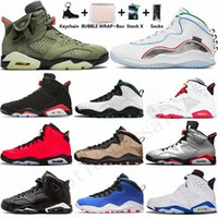 Wholesale basketball shoes socks resale online - 2020 With Box Keychain Socks s Travis scotts Black Cat White Infrared Mens Basketball Shoes s Wings Seattle Cement Man Sports Sneakers