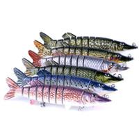 cebos duros pesca señuelos al por mayor-Señuelo de la pesca Multi Segment Swimbait Crankbait Cebo Duro 12.7 cm 20g Señuelos Artificiales Aparejos de Pesca 6 Colores ZZA281