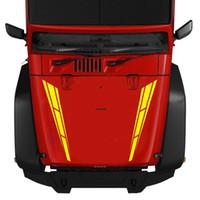 Wholesale car bonnet stickers resale online - 2Pcs Car Racing Sport Stripe Cover Optional color Vinyl Decals Graphics Truck Bonnet Stickers CM x