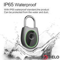 fingerprint door lock оптовых-USB аккумуляторная Smart Keyless Fingerprint Lock IP65 Водонепроницаемый противоугонный замок Замок двери Используйте отпечатки пальцев для разблокировки