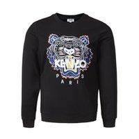 esboço de moda venda por atacado-Moda-chegam novas Cápsula Colecção Tigre camisola dos homens Moletom Com Capuz Camisola de Manga Longa Streetwear Outline Logo Crew Camisola
