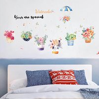 Wholesale bedroom wallpaper environmental resale online - Living Room Bedroom Cupboard Hallway Study Decoration ELEGANT Weall Stickers Pvc Environmental Protection decals for walls wallpaper sticker