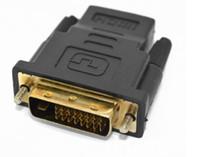 conector hdmi tv al por mayor-HDMI Hembra a DVI Macho 24 + 1 Adaptador Chapado en oro HD 1080P Conector Monitor Proyector de TV Conector HD