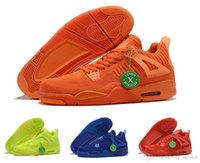 ingrosso volt plastica-Nike Air Jordan 4 2019 Scarpe da Basket Uomo Maglieria da mosca in plastica traslucida Fashion 4s Total Orange Hyper Royal University Red Volt Mens Sneaker da uomo