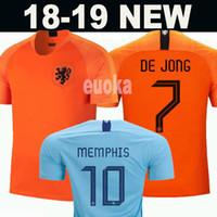 jerseys europeos de fútbol al por mayor-2019 2020 Netherlands soccer jerseys DE JONG Holland football kits shirt DE LIGT VAN DIJK VIRGIL jersey STROOTMAN MEMPHIS PROMES football