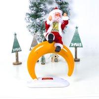 juguetes bailando santa al por mayor-Eléctrica de Santa Claus muñeca Baile del canto de música de juguete automática de Navidad linda juguetes de la muñeca Feliz Navidad Decoración GGA2801