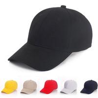 sombrero de visera deportivo al por mayor-Diseñador Llanura de béisbol de encargo Caps Strapbacks ajustables de algodón para Adult Mens tejidos curvos sombreros de los deportes en blanco sólido Golf parasol