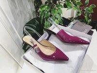 ingrosso tacchi gialli di gattino-Gattino tacchi viola blu giallo rosa donne tacco abito singolo scarpe in PVC cinghie delle signore della festa nuziale moda scarpe da ballo femminile pompe Mujers