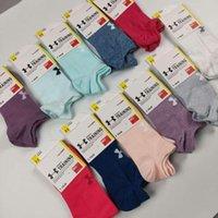 kız askısı toptan satış-Etiketler DHL ile Kes Spor Çorap Şeker Renk Halhal Kısa çorap Zırh Çorap Terlik Kızlar Marka Çorap Çorap Altında Kadınlar Bilek Çorap